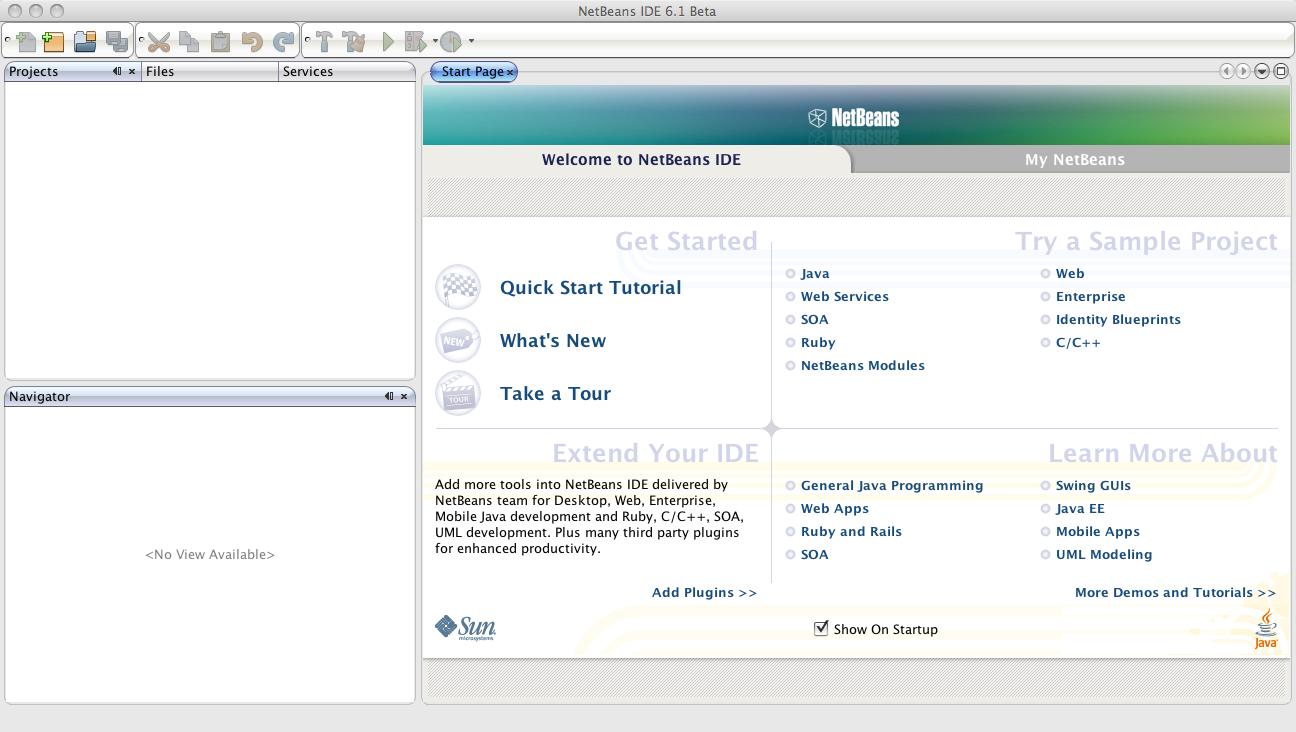 nule org} » NetBeans 6 1 Preview